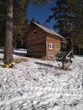 Día libre en una casa del bosque fotografía de archivo libre de regalías