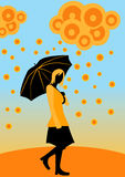 Día lluvioso. ilustración del vector