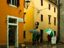 Día lluvioso de Novigrad - de Cittanova Fotografía de archivo