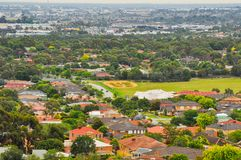 Día lluvioso en el parque Wilson australia Fotos de archivo libres de regalías