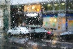 Día lluvioso en París fotos de archivo libres de regalías