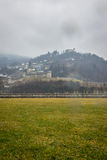 Día lluvioso en Suiza Foto de archivo