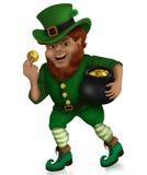 Día Lucky Leprechaun del ` s de St Patrick Imagenes de archivo