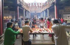 Día lunar del ` s del Año Nuevo de la pagoda de los peregrinos Fotografía de archivo libre de regalías