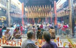 Día lunar del ` s del Año Nuevo de la pagoda de los peregrinos Imagenes de archivo
