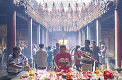Día lunar del ` s del Año Nuevo de la pagoda de los peregrinos Imágenes de archivo libres de regalías