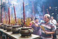 Día lunar del ` s del Año Nuevo de la pagoda de los peregrinos Foto de archivo libre de regalías
