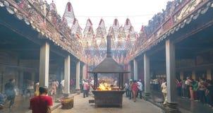 Día lunar del ` s del Año Nuevo de la pagoda de los peregrinos Fotos de archivo