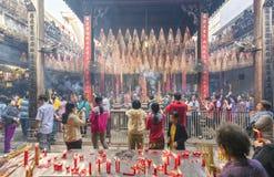 Día lunar del ` s del Año Nuevo de la pagoda de los peregrinos Foto de archivo