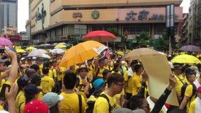 Día 2, Malasia de la reunión de la cantidad Bersih4 almacen de metraje de vídeo