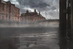 día melancólico en Hamburgo Fotos de archivo libres de regalías