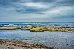 Día melancólico en la costa de Chiba, Japón Imagen de archivo