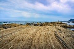 Día melancólico en la costa de Chiba, Japón Foto de archivo libre de regalías