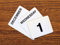 Día Mundial del Sida 2010 del calendario Foto de archivo libre de regalías