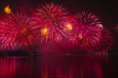 Día nacional 2010 de Qatar de los fuegos artificiales Foto de archivo libre de regalías