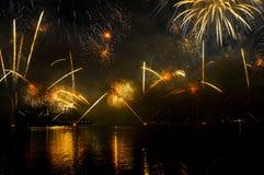Día nacional 2010 de Qatar de los fuegos artificiales Imágenes de archivo libres de regalías