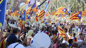 Día nacional de Cataluña almacen de metraje de vídeo