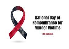 Día nacional de cinta de las víctimas de asesinato de la conmemoración libre illustration