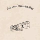 Día nacional de la aviación stock de ilustración
