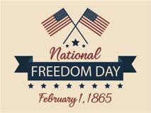 Día nacional de la libertad Imagen de archivo