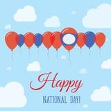 Día nacional de la república Democratic del ` s de Lao People ilustración del vector