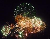 Día nacional de los fuegos artificiales el 14 de julio Imagen de archivo libre de regalías