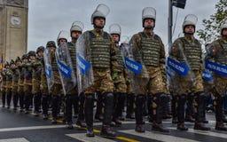 Día nacional de Rumania, policía militar fotografía de archivo libre de regalías