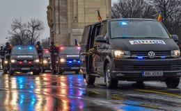 Día nacional de Rumania, policía rumana fotos de archivo