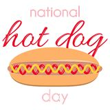 Día nacional del perrito caliente Imagen de archivo libre de regalías