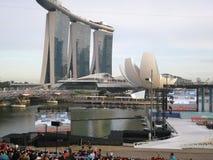 Día nacional en la plataforma flotante de Singapur imagenes de archivo