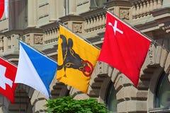 Día nacional suizo en Zurich Foto de archivo