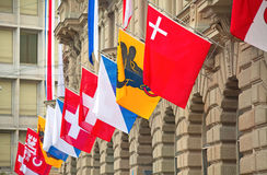 Día nacional suizo en Zurich Imagen de archivo libre de regalías