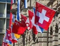 Día nacional suizo en Zurich Fotografía de archivo libre de regalías