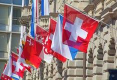 Día nacional suizo en Zurich Imágenes de archivo libres de regalías