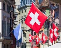 Día nacional suizo en Zurich Fotos de archivo