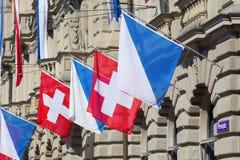 Día nacional suizo en Zurich Fotos de archivo libres de regalías
