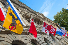 Día nacional suizo en Zurich Foto de archivo libre de regalías
