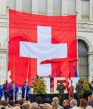 Día nacional suizo en Zurich, Suiza Fotografía de archivo