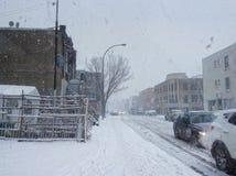Día Nevado en Montreal Foto de archivo libre de regalías