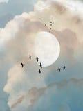 Día nublado ilustración del vector