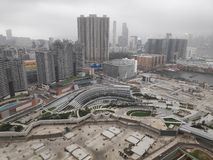 Día nublado de la ciudad de Hong-Kong fotos de archivo