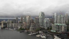 Día nublado de la Columbia Británica de Vancouver Foto de archivo libre de regalías