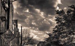 Día nublado en el bloque Foto de archivo libre de regalías