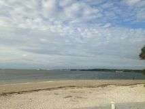 Día nublado en las playas de la Florida Fotografía de archivo