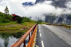 Día nublado en Noruega Fotos de archivo libres de regalías