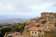Día nublado en October.Tuscany. Foto de archivo libre de regalías
