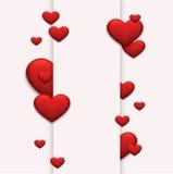 Día o 8 de marzo rojo moderno de las tarjetas del día de San Valentín del vector Imagen de archivo libre de regalías