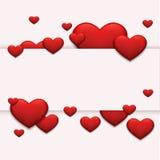 Día o 8 de marzo rojo moderno de las tarjetas del día de San Valentín del vector Imágenes de archivo libres de regalías