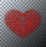 Día o 8 de marzo rojo moderno de las tarjetas del día de San Valentín del vector Fotos de archivo libres de regalías