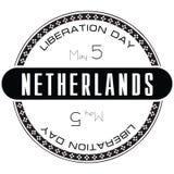 Día Países Bajos de la liberación del sello Imágenes de archivo libres de regalías